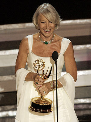 Primetime Emmy Awards 2006, Helen Mirren | At the 2006 awards, while accepting the Lead Actress in a Miniseries or Movie prize for the title role in HBO's Elizabeth I , classy…