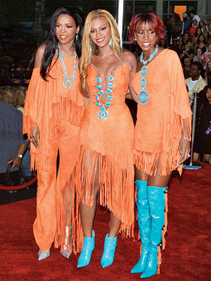 Beyonce Knowles, Destiny's Child | Pow-wow Ow! Cruise-ship act or internationally renowned pop trio? It was hard to tell when Destiny's Child appeared on the red carpet wearing matching, egregiously…