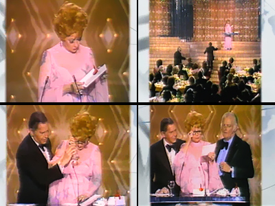 Lucille Ball, Carol Burnett | Lucille Ball's appearance at the podium to present the prize for best comedy series of 1975 was marked by a mishap that would unnerve even…