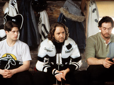 Russell Crowe | Mystery, Alaska (1999) Russell Crowe plays a ruddy-cheeked small town Alaskan sheriff who is still a whiz on the ice. Dreams long deferred rise to…