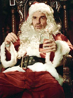 Bad Santa, Billy Bob Thornton | Billy Bob Thornton spikes the egg nog in this bruise-black comedy about a disgusting, drunk department store Santa/con man who's out to rob stores on…