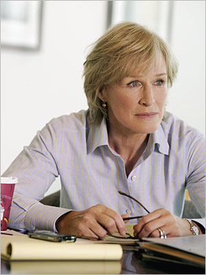 Glenn Close, Damages | DAMAGES PREMIERED July 24, 2007 THE SCOOP Those hungering for more meaty summer fare found a hearty feast in FX's dense legal mind bender. It…