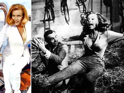 Goldfinger, Honor Blackman | Really, her name alone would have been enough to rank her among Bond's best loves. But Brit Blackman rounded off Pussy's cardboard edges, introducing fans…