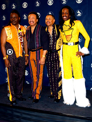 Earth, Wind & Fire | Shouldn't the cutoff year for them getting away with dressing like this have been (very generously) somewhere in the early '90s?