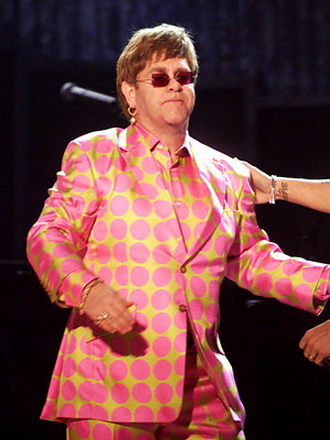 Elton John | Finally, someone who knows how to match.