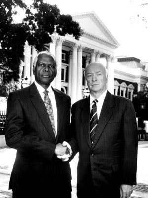 Michael Caine, Sidney Poitier