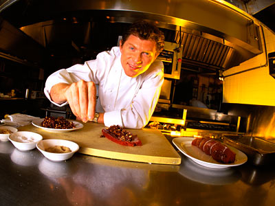 Bobby Flay | TV Shows: Boy Meets Grill , Throwdown , Iron Chef America Who says that cooking isn't a man's sport? Not Flay — the boyish chef…