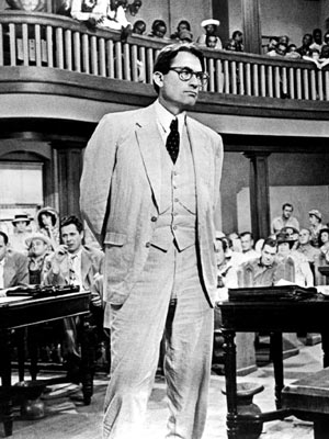 To Kill a Mockingbird, Gregory Peck | WHY HIM: In Harper Lee's To Kill a Mockingbird , and in the movie with Gregory Peck, Atticus transforms quiet decency, legal acumen, and great…