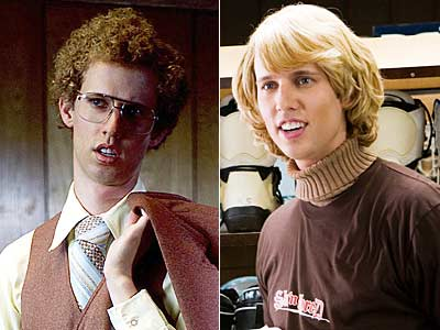Jon Heder, Blades of Glory, ... | NAPOLEON DYNAMITE (Jon Heder) Napoleon Dynamite and JIMMY MacELROY (Jon Heder) Blades of Glory The list has a double offender: Jon Heder's curly mop in…