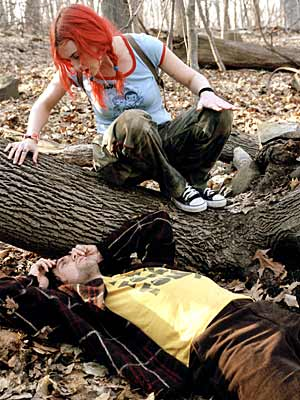 Jim Carrey, Kate Winslet, ... | CLEMENTINE (Kate Winslet) Eternal Sunshine of the Spotless Mind Sure, it's bad, but we do have to give Clementine props for matching her red-orange mane…