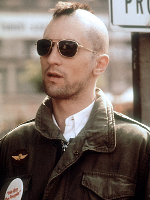 Robert De Niro, Taxi Driver | TRAVIS BICKLE (Robert De Niro) Taxi Driver Travis' mohawk might have made him a little more intimidating, but really, how intimidating could a toilet brush…