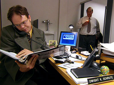 Rainn Wilson, The Office | (''The Fight,'' Season 2, Episode 6) Dwight seems to have misplaced his desk. But before he can whine to Michael ( Steve Carell ), Jim…
