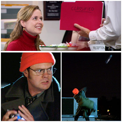 The Office, The Office (Season 3 -- Episode 310: A Benihana Christmas, Parts 1 & 2) | (''A Benihana Christmas,'' Season 3, Episode 10) Pam gives Jim the ultimate Christmas gift: classified plans to a long-term prank on a completely oblivious ''CIA…