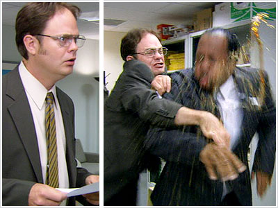 Rainn Wilson, The Office | (''Branch Closing,'' Season 3, Episode 7) When Jim steals some of Dwight's stationery and sends Dwight faxes from ''Future Dwight,'' Dwight isn't the only victim.…