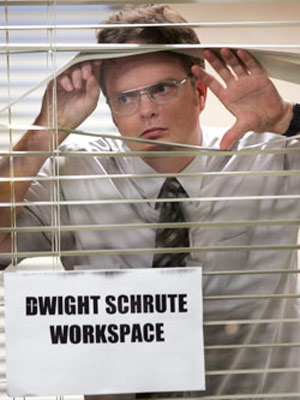 Rainn Wilson, The Office | (''Health Care,'' Season 1, Episode 3) Could someone in your office be suffering from Ebola? Mad cow disease? Leprosy? Flesh-eating bacteria? A government-created killer nano-robot…