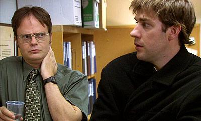 Rainn Wilson, John Krasinski, ... | (''Business School,'' Season 3, Episode 16) Something's wrong with Jim. He feels all tingly. He can't touch garlic bread. His teeth feel...sharper. He's sensitive to…