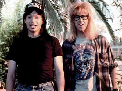 Mike Myers, Dana Carvey, ... | WAYNE CAMPBELL (Mike Myers) and GARTH ALGAR (Dana Carvey) Wayne's World Okay, so party time wouldn't be quite as excellent if not for the duo's…