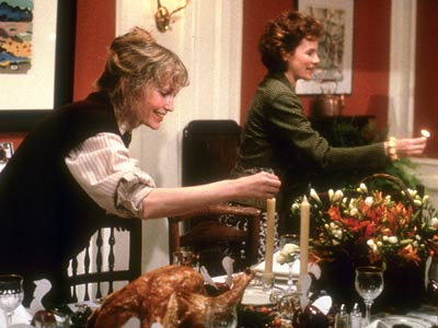 Hannah and Her Sisters, Dianne Wiest, ... | Pilgrims Three consecutive Thanksgiving dinners mark milestones in the lives of Hannah (Mia Farrow, left), her sisters Holly (Dianne Wiest, right), and Lee (Barbara Hershey),…