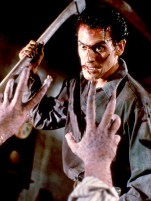 Evil Dead II, Bruce Campbell | Gore just doesn't get any giddier than Sam Raimi's sequel-slash-remake (emphasis on slash), which finds average-guy Ash Williams facing off against the undead, armed with…