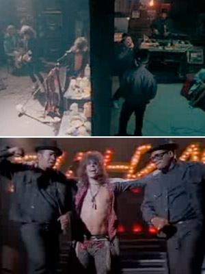Run-DMC, Aerosmith | HIGH: A classic is born (1986) Aerosmith teams up with Run DMC for a new version of ''Walk This Way.'' The collaboration puts Aerosmith back…