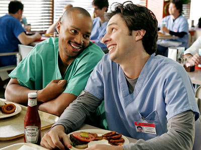 Scrubs, Donald Faison, ... | From fresh-faced interns to residents who ruled the roost, these college buds have held each others hands (and held each other period) through all their…