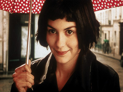 Amélie ( Audrey Tautou ) setting up a wild goose chase for her beloved Nino ( Mathieu Kassovitz ) all through Paris in Amélie (2001).