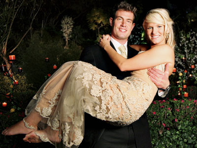 The Bachelor: Jesse | The Bachelor (season 5) Finale aired May 19, 2004 Bachelor: Jesse Palmer Potential brides: Jessica Bowlin and Tara Huckeby Mandi Bierly wrote: On Jessica: ''Mom…