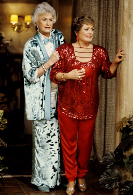 The Golden Girls, Bea Arthur, ... | The ladies of the lanai brought back three big S's for the geriatric set. That would be sex, shoulder pads, and sequins, FYI.