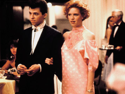 Jon Cryer, Molly Ringwald, ... | Teens swooned over Molly Ringwald's DIY reconstructed prom dress. Well, that and her singularly styled date, Duckie. (Who else could pull off the bolo tie?)