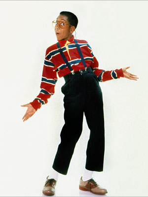 Jaleel White | Family Matters ' lead dweeb (Jaleel White) finally gave high-waisted pants the bad name they deserved.