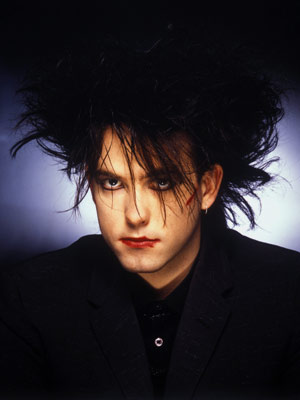 The Cure, Robert Smith | Brit singer Robert Smith's goth look — in all of its inky-haired, bat-cave glory — begat another outlet for the behind-the-bleachers set.