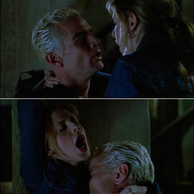 Sarah Michelle Gellar, Buffy the Vampire Slayer   I gotta agree with all the other posters who've mentioned Buffy and Spike . That scene in ''Smashed'' is the hottest thing I've ever seen...the…