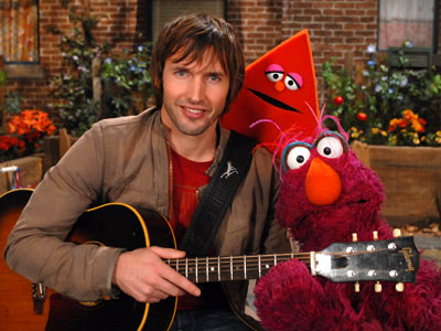 James Blunt, Sesame Street | JAMES BLUNT Without a hint of irony, Blunt sings, to the melody of ''Beautiful,'' this song to Telly: ''This shape was brilliant/This shape was pure/I…