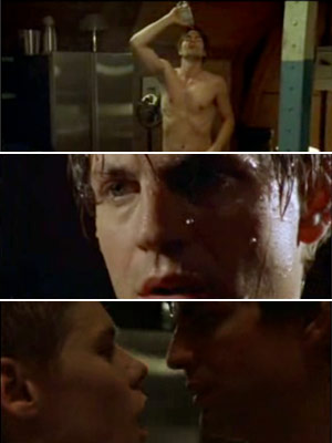 Queer As Folk   Queer as Folk : the very first time Brian takes Justin home. One viewing of Gale Harold pouring water over himself and stripping down to…