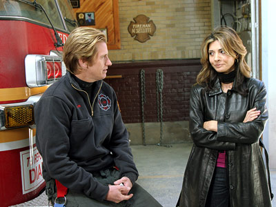 Denis Leary, Callie Thorne, ...   The hottest one that I remember was Denis Leary and the lovely Callie Thorne on Rescue Me . They had a scene that I would…