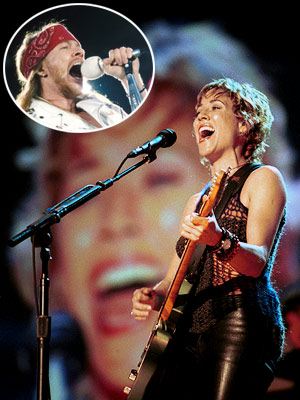 Axl Rose, Sheryl Crow | The most painful and cringe-worthy remake I have ever heard has to be ''Sweet Child O' Mine'' by Sheryl Crow [originally performed by Guns N'…