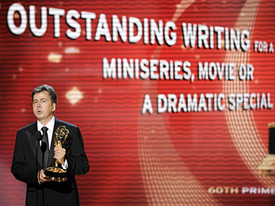 Kirk Ellis | Accepting the writing prize for HBO's John Adams miniseries, Kirk Ellis thanked the producers for giving him an opportunity to write about ''a period in…