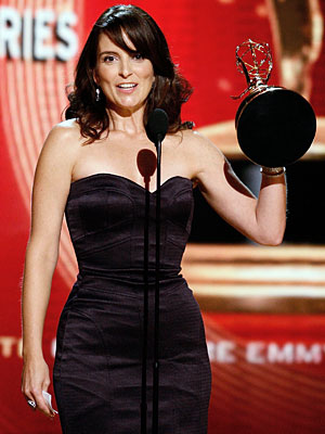Tina Fey, Primetime Emmy Awards 2008 | In her first trip to the podium, for Comedy Writing, 30 Rock 's Fey insisted that her nominated colleague Jack Burditt should have won for…