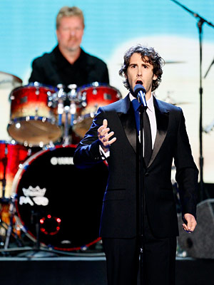 Josh Groban, Primetime Emmy Awards 2008 | Channeling Bill Murray's old Saturday Night Live lounge lizard character, Groban sang snippets of about 30 familiar TV themes, including South Park (doing a surprisingly…