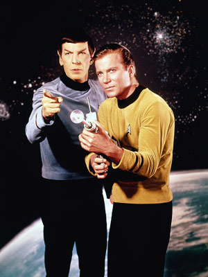 Leonard Nimoy, William Shatner, ... | ''A Wagon Train to the stars.'' That's how Gene Roddenberry pitched Star Trek to TV execs in 1964. But though his hero, Capt. James T.…