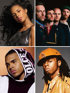 Coldplay, Alicia Keys, ...