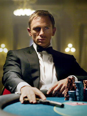 Casino Royale, Daniel Craig | I've never seen a JAMES BOND movie. Don't want to either. I just don't understand what a ''quantum of solace'' is. — robin