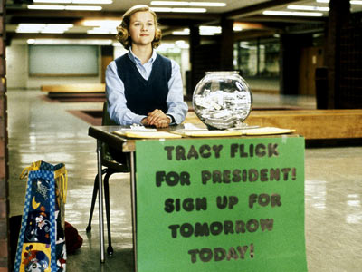 Election | Face the facts, Gleeks, without Tracy Flick, there'd be no Rachel Berry. Reese Witherspoon's manipulative, Type-A politically-charged (and, yes, a little promiscuous) Tracy made life…
