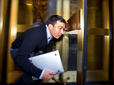 Jimmy Fallon | Sept. 23, 2008 · Rockefeller Center, NYC · 1:30 p.m. Photographs by Jake Chessum How does a guy prepare to replace Conan O'Brien on Late…