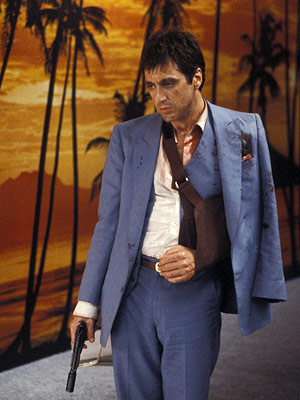 Scarface, Al Pacino | We suppose the saga of penniless Cuban refugee-cum-wealthy drug kingpin Tony Montana's rise and fall has a moral, if you want to look for it.…