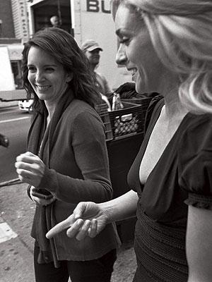 Tina Fey, Jane Krakowski | Fey shares a laugh with Krakowski.
