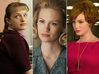 Christina Hendricks   The women of Mad Men are great, especially ELISABETH MOSS (left). The way Peggy just takes everything the men in the office say to her…