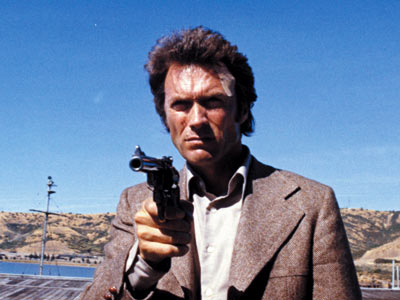 Dirty Harry, Clint Eastwood | TYPICAL DAY ON THE JOB: Beating up scum on the streets of San Francisco; denying Miranda rights WEAPON OF CHOICE: .44 Magnum, ''the most powerful…