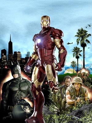 Iron Man, The Dark Knight, ...