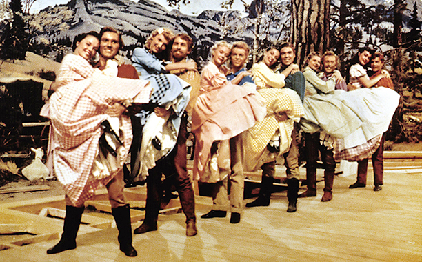 Barn-raising dance, Seven Brides for Seven Brothers (1954)